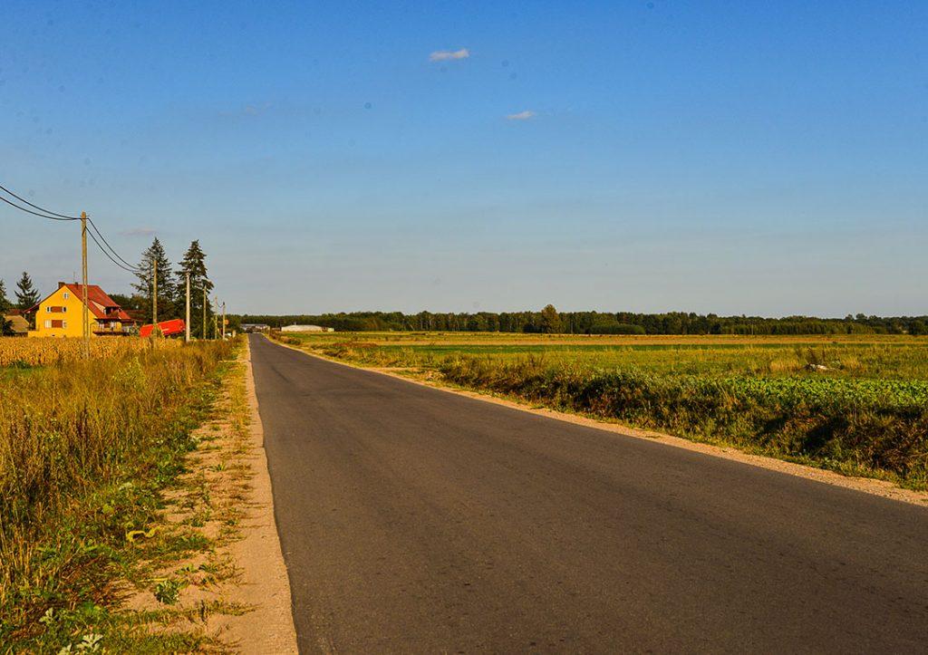 Wyremontowana ul. Bielska na odcinku od cmentarza w kierunku wsi Załuskie
